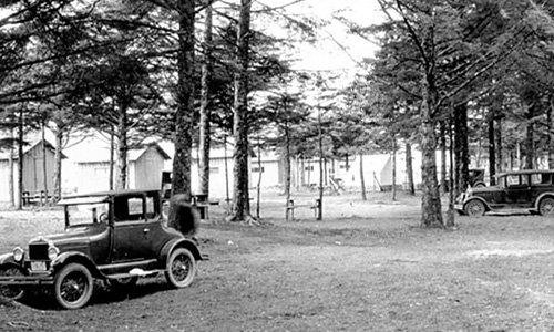 Ocean Beach campground in La Push, ca. 1930.