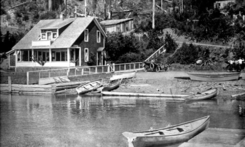 East Beach Hotel on Lake Crescent.